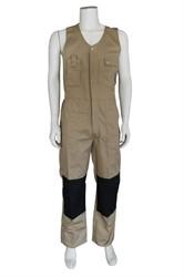 WW4A Bodybroek Katoen/Polyester - kaki/zwart