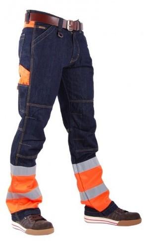 CrossHatch Spijkerbroek Toolbox-FO-30-34-Fluor Oranje-1