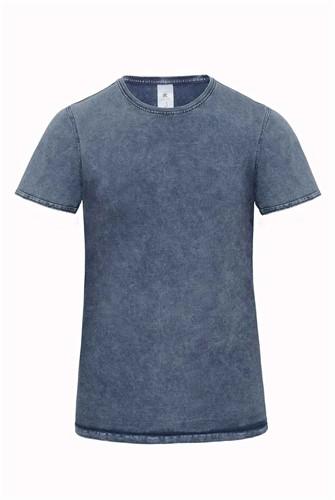 B&C DNM Editing Heren T-shirt-S-Raw blauw