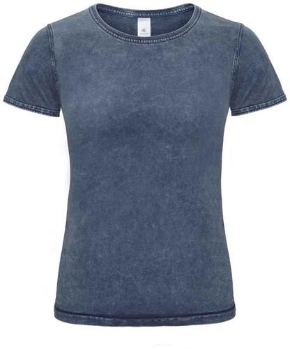 B&C DNM Editing Dames T-shirt-XS-Raw blauw