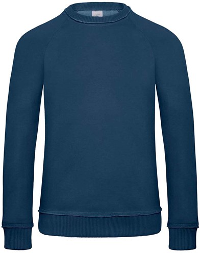B&C DNM Invincible Heren Sweater-S-Diep Indigo