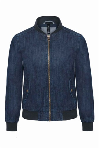 B&C BCJWD15 Denim Supremacy Dames Bomberjack-XS-Diep blauw Denim