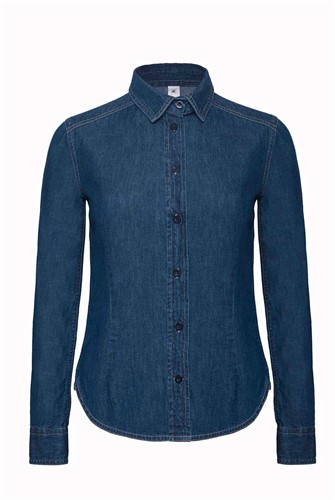 B&C DNM Vision Dames Blouse-XS-Denim