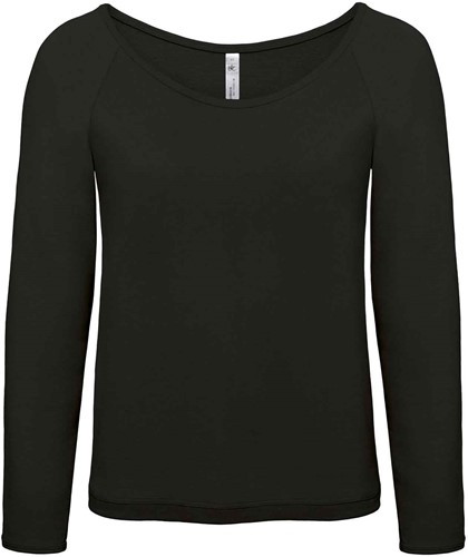 B&C Eden Dames Sweater-Zwart-XS