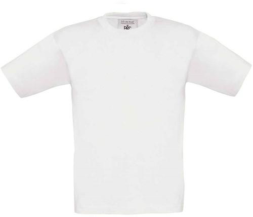 B&C Exact 150 kids T-shirt-Wit-12/14
