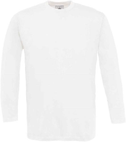B&C Exact 150 LSL T-shirt-Wit-S