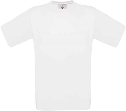 B&C Exact 150 T-shirt-Wit-XXL