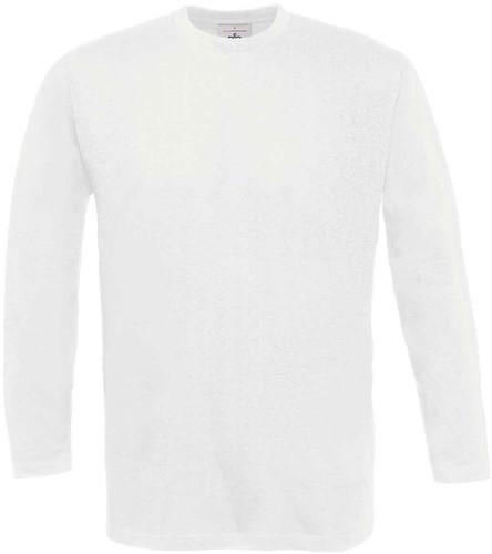 B&C Exact 190 LSL T-shirt-Wit-XXL