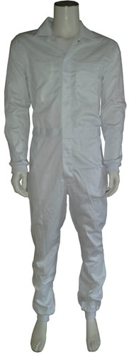 WW4A Foodoverall Polyester/Katoen met manchetten - Wit