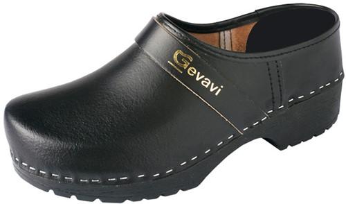 Gevavi 1550/00 Gesloten Schoenklomp PU - Zwart