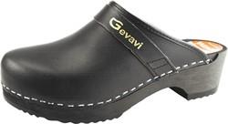 Gevavi 9200 Open Schoenklomp Hout - zwart