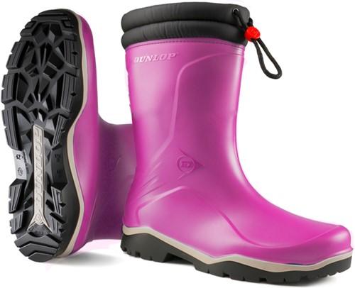 Dunlop K374061 Blizzard Gevoerde Meisjeslaars PVC - roze