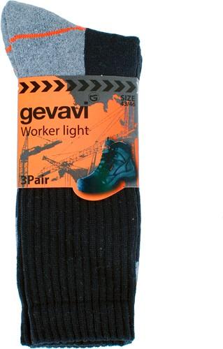 Gevavi GW80 Worker Light Sok - zwart (3 Paar)-39-42