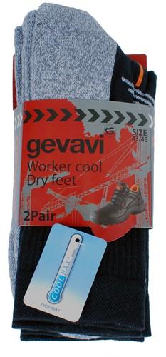 Gevavi GW81 Coolmax Sok - zwart (2 Paar)-39-42
