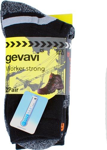 Gevavi GW82 Strong Sok - zwart (2 Paar)-39-42