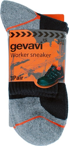 Gevavi GW85 Sneaker Sok - zwart (3 Paar)-39-42