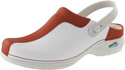 Wash&Go Clog Open - wit/rood