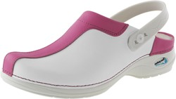 Wash&Go Clog Open - wit/fuchsia