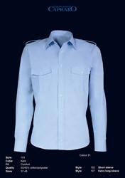 Giovanni Capraro 101-31 Pilot Overhemd - Blauw