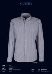 Giovanni Capraro 125-12 Overhemd - Grijs gestreept