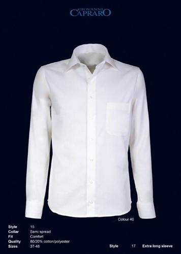 Giovanni Capraro 15-40 Overhemd - Offwhite