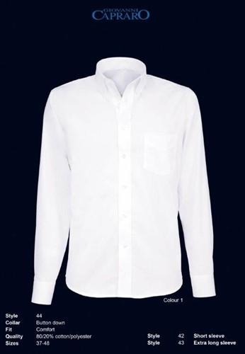 Giovanni Capraro 44-01 Overhemd - Wit