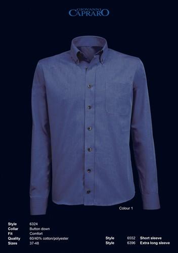 Giovanni Capraro 6324-01 Overhemd - Navy