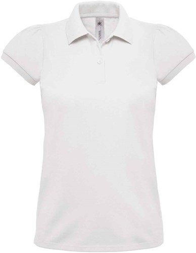 B&C Heavymill Dames Polo-Wit-XS