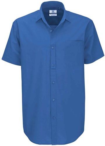 B&C BCSMP42 Heritage Short Sleeve Heren Overhemd-S-Blauw Chip