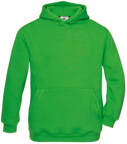B&C Hooded kids Sweater-12/14-Real Groen
