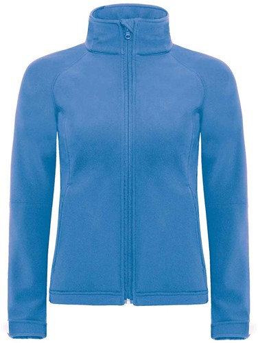 B&C Hooded softshell Jas Dames-XS-Azure