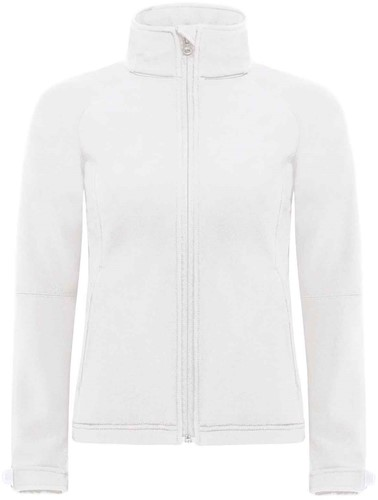 B&C Hooded softshell Jas Dames-Wit-XS