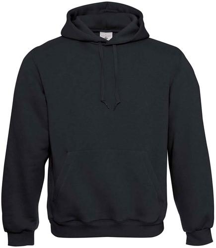 B&C Hooded Sweater-Zwart-XXS