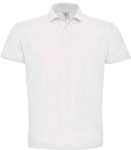 B&C ID.001 Poloshirt-Wit-XS