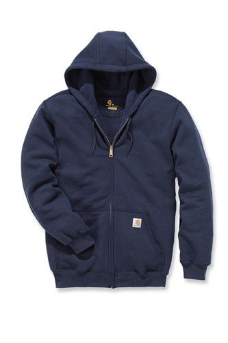 Carhartt Midweight Hooded Zip Front Sweater-Navy-S