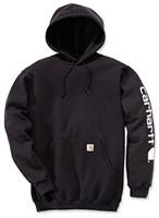 Carhartt Midweight Signature Sleeve Logo Hooded Sweater-Zwart-XS-1