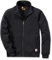 Carhartt Midweight Mock Neck Zip Front Sweater-Zwart-XS