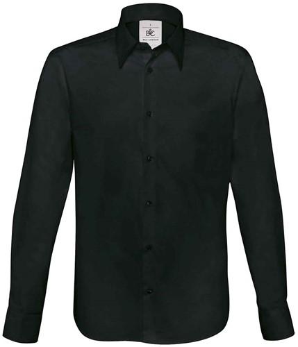 B&C London Overhemd-Zwart-S