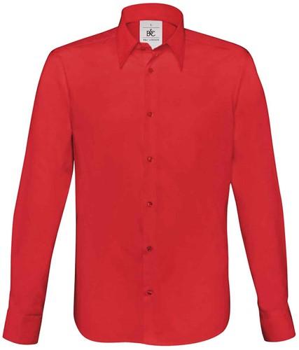 B&C BCSM580 London Overhemd-S-Diep Rood