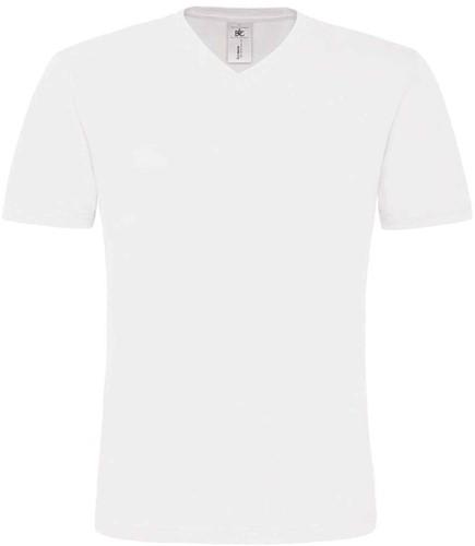 B&C Mick Classic Heren T-shirt-Wit-S
