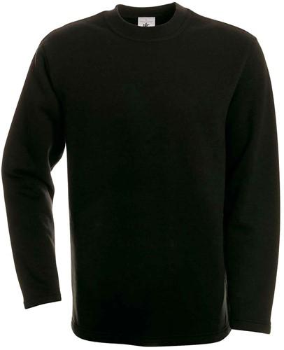 B&C Open Hem Sweater-Zwart-S