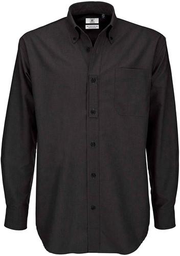 B&C Oxford LSL Heren Overhemd-Zwart-S