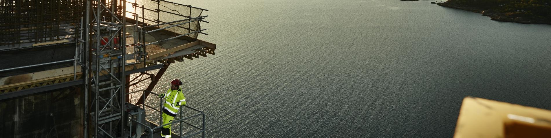 Offshore kleding banner breed