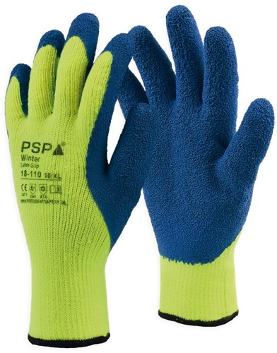 PSP 18-110 Winter Latex Winterhandschoen Hi-Vis Geel-8