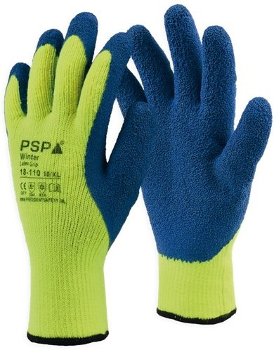 PSP 18-110 Winter Latex Winterhandschoen Hi-Vis Geel