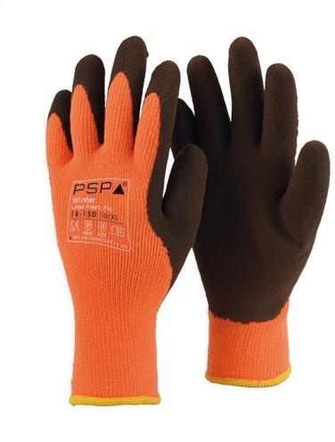 PSP 18-150 Winter Top Latex-Foam Winterhandschoen Hi-Vis Oranje/Bruin