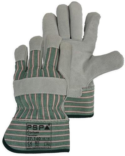 PSP 37-140 Corium Canadian Split Werkhandschoen Groen