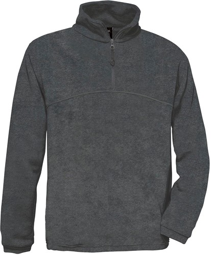 B&C Highlander+ Fleece Sweater-Charcoal-XS