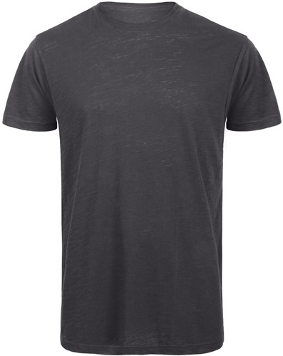 B&C TM046 Slub Heren T-shirt - Chic anthracite - S-S-Chic anthracite