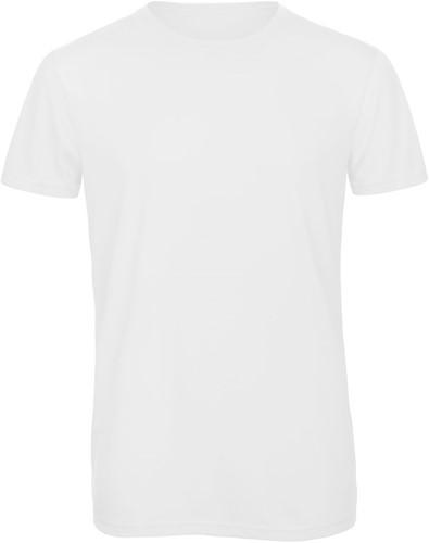 B&C TM055 Triblend Heren T-shirt - Wit - S-Wit-S